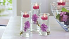 Get this Free When You Book a PartyLite  Party With Me.   Contact Me To Book Your Date.  413-627-0640 . Three diminutive holders in clear glass. Fill the glass vessels with your own decorative accents and finish by adding the votive cup on top.