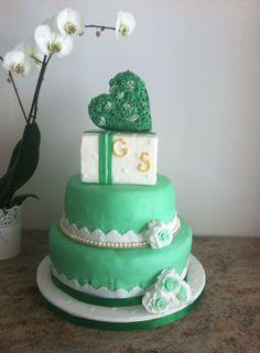una promessa è per sempre, green&white cake, promessa di matrimonio, ruffle heart