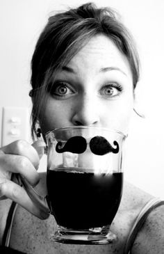 The Man Mustache Mug- Glass Edition. Get it at http://www.etsy.com/listing/62503165/the-man-mustache-mug-glass-edition