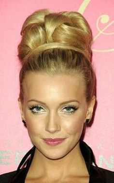 Katie Cassidy's updo can make a bride look like a true model! I wonder if I could do this to my hair...