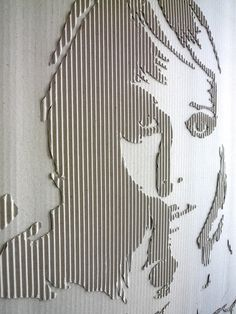 corrugated cardboard crafts So want to try something like this. Corrugated: Cardboard Jane by Andreas Scheiger/pos-neg Cardboard Sculpture, Cardboard Crafts, Paper Crafts, Cardboard Relief, Grafik Design, Art Plastique, Teaching Art, Art Techniques, Art Education