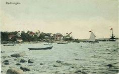 Rødtangen i 1905 Håndkolorert prospektkort etter foto av Wilse i 1905. Sannsynligvis utgitt som postkort i forbindelse med unionsoppløsningen.