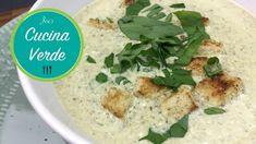 Bärlauchcremesuppe mit Speckwürfel - Rezept von Joes Cucina Verde Avocado Creme, Oatmeal, Breakfast, Food, Browning, Diy, Meal, Eten, Meals
