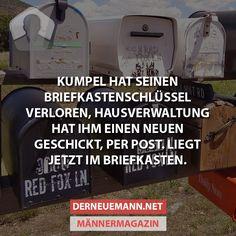 Briefkastenschlüssel #derneuemann #humor #lustig #spaß
