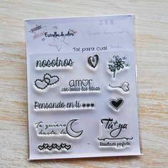 Colección de sellos acrílicos TAL PARA CUAL para Scrapbook (castellano) de Estrellesdecolors en Etsy