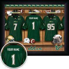 Make lockers ~ as headboard or along a different wall - hang jerseys