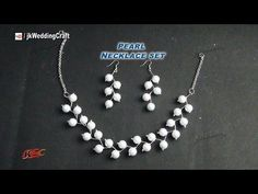 Crazy For Pearls Bridal Choker/Pearl Necklace Set - YouTube