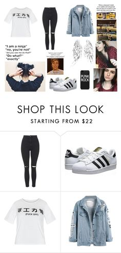 """""""Hanging out with Colliscool *Colleen*"""" by that-1-awkward-friend1234 ❤ liked on Polyvore featuring Topshop, adidas Originals, women's clothing, women, female, woman, misses and juniors"""
