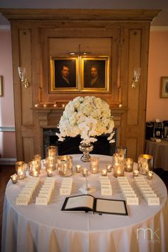 Beautiful Blooms Morris House Hotel MK Photo Mercury Glass White Wedding Hydrangea Phalenopsis Orchids Candlelight