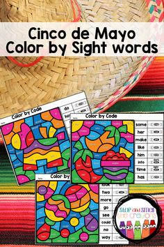 Cinco de Mayo Color by Sight Word Fry Sight Words, Sight Words List, Sight Word Practice, Phonics Activities, Color Activities, Spring School, Programming For Kids, Student Engagement, Literacy Centers