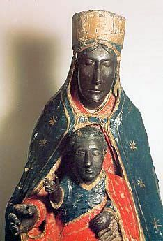 """Yesterday we went to Tindari in Eastern Sicily, famous for its statue of a black Madonna with a black baby Jesus. Like most of the """"black Madonna"""" statues from places where the majority of the popu… Religious Icons, Religious Images, Religious Art, Black History, Art History, Ancient History, La Madone, Statues, Black Jesus"""
