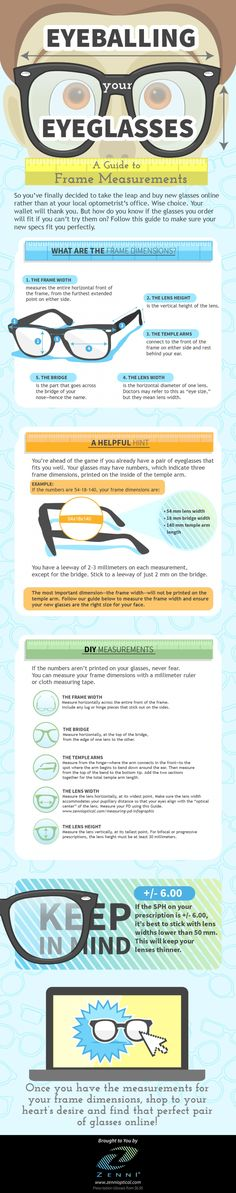 Eyeballing Your Eyeglasses - A guide to frame measurements