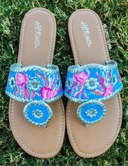 Jellies Be Jammin Lilly Pulitzer Hand Painted Jack Rogers