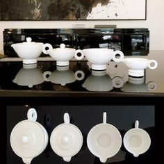 Art Deco Tea Coffee Set Robj, France, around 1930   From a unique collection of antique and modern ceramics at http://www.1stdibs.com/furniture/dining-entertaining/ceramics/