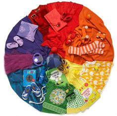 create with items from classroom or assign color to each child to bring something from home!