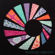 Quilting Lodge Blog: Swirly Twirly Dresden - so cute!  AND it is a tutorial!
