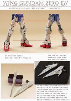 GUNDAM GUY: RG 1/144 Wing Gundam Zero Custom EW - Painted Build Gundam Wing, Gundam Art, Custom Gundam, Mobile Suit, Zero, Wings, Superhero, Guys, Model