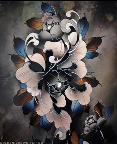 Japanese Flower Tattoos, Japanese Tattoo Art, Japanese Tattoo Designs, Japanese Sleeve Tattoos, Japanese Flowers, Flower Tattoo Designs, Japanese Art, Rose Tattoos, Body Art Tattoos