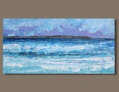 abstract painting seaside panorama ocean panorama seascape
