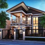 Simple 2 Storey House Design In The Philippines Minimalist House Design, Modern House Design, Style At Home, Modern House Philippines, Bungalow Haus Design, Residential Building Design, Philippine Houses, 2 Storey House Design, Two Storey House