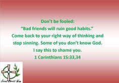 1 Corinthians 15:33,34