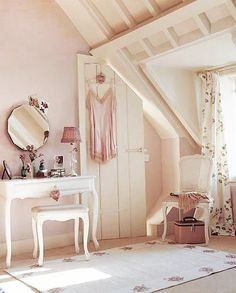 Pale colours, pretty furniture
