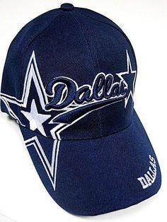 Dallas Cowboys Blue Hat Cap Script Visor Embroidered Signature Double Star  Logo Dallas City bf2000e70