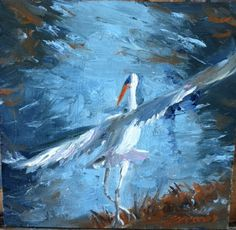 6x6 original oil on board by Susie Gregory, available at Simon's on st. simons island, georgia $275