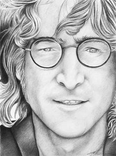 John Lennon Pencil Drawing Art Print