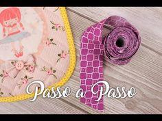 Como Fazer e Aplicar Viés de Tecido | Passo a Passo - YouTube Textiles, Patches, Kids Rugs, Make It Yourself, Sewing, Mascara, Blog, Youtube, Sewing Accessories
