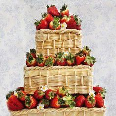 Strawberry Cake...Wow...I want it!  :)