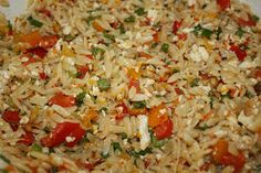 Little Presidents: Orzo Salad with Feta, Mint and Green Onions...OH MY!