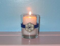 Votive Candle Holder / Bling Wedding by CarolesWeddingWhimsy, $24.99, set of 6, THE NEW NAVY.....Royal Blue with Rhinestone and Pearl Embellishment....perfect for your wedding or any special event. Check them out here  https://www.etsy.com/listing/174939566/votive-candle-holder-bling-wedding