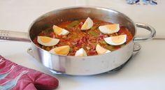 Cazuela de judías verdes con tomate y jamón - http://www.bezzia.com/cazuela-de-judias-verdes-con-tomate-y-jamon/