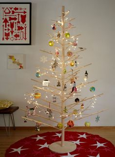 A modern, minimal take on the Christmas tree.