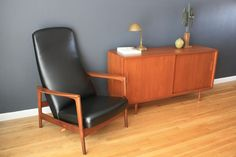Vintage Mid-Century Recliner by Folke Ohlsson