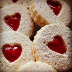 Strawberry Hearts Shortbread cookies
