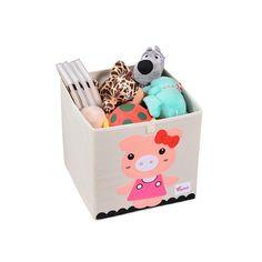 Cube storage box - pig Kitchen Storage Boxes, Kids Storage, Smart Storage, Cube Storage, Storage Bins, Storage Ideas, Kallax Shelving Unit, Shelves, Clothes Basket