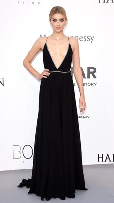 Lily Donaldson at a benefit gala in Cannes