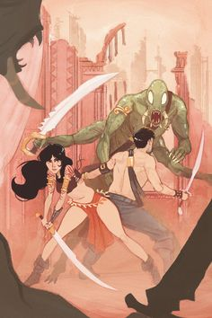 Original painting before editing for print volume:2 (collected John Carter of Mars covers by Alexander Wilson, via Behance)
