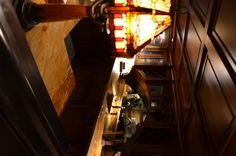 love the coffered ceiling and return on the bar. Bar in the basement