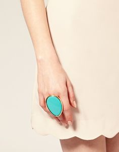 been looking for a big turquoise statement ring...though I don't know if this one is a little TOO big?