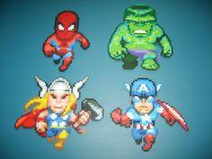 Avengers perler beads by clochette241 on deviantART