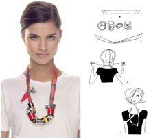 nouer foulard look femme élégante blog mode Paris Soyons élégantes http://www.soyonselegantes.com/comment-nouer-foulard/ Comment nouer un foulard : 1001 idées, 1 mode d'emploi #look #femme #foulard #mode