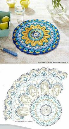 Transcendent Crochet a Solid Granny Square Ideas. Inconceivable Crochet a Solid Granny Square Ideas. Motif Mandala Crochet, Crochet Doily Diagram, Crochet Flower Patterns, Crochet Squares, Crochet Chart, Crochet Designs, Crochet Doilies, Knitting Patterns Free, Crochet Stitches