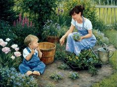 *Helping mom...Robert Duncan