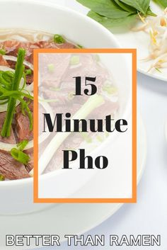 This 15 Minute Pho Recipe will teach you how to make the classic Vietnamese soup… Ramen Recipes, Asian Recipes, Cooking Recipes, Ethnic Recipes, Vietnamese Soup, Vietnamese Recipes, Pho Recipe, Recipe Box, Pho Noodle Soup