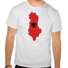 Albania - map and flag - shirt - bluze, e disponueshme per te rritur, burra, gra, femije, ne shume stile dhe ngjyra - mund te shtoni dhe vete tekstin qe deshironi - Shqiperia - harta e Shqiperise dhe shqiponja e flamurit