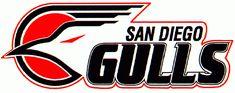 San Diego Gulls Primary Logo on Chris Creamer's Sports Logos Page - SportsLogos. A virtual museum of sports logos, uniforms and historical items. Hockey Logos, Sports Team Logos, Basketball T Shirt Designs, Frozen Pond, Football Uniforms, Rage, San Diego, Gulls, Hockey Stuff