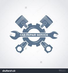 vector monochrome car service logo in retro style with a wrench pistons and gear; garage car repair service and tuning label vehicle engine service icon Car Repair Service, Auto Service, Truck Repair, Pistons Logo, Garage Logo, Service Logo, Retro Logos, Car Drawings, Car Shop